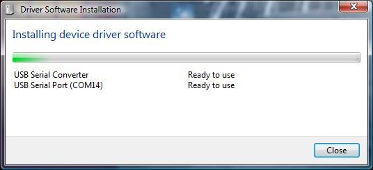 Driver Software Installation - Installling device driver software - USB Serial Conveter - USB Serial Port